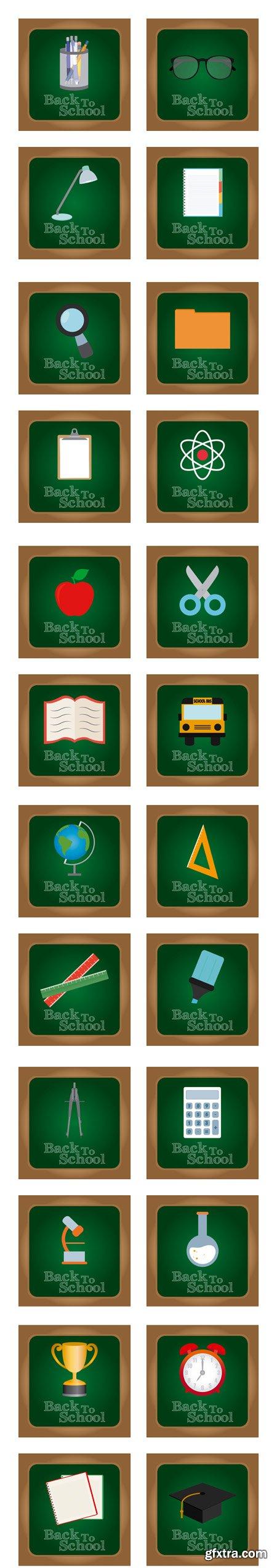 Back to school - Vectors A000004