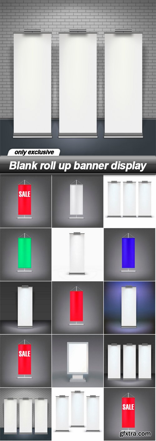Blank roll up banner display - 14 EPS