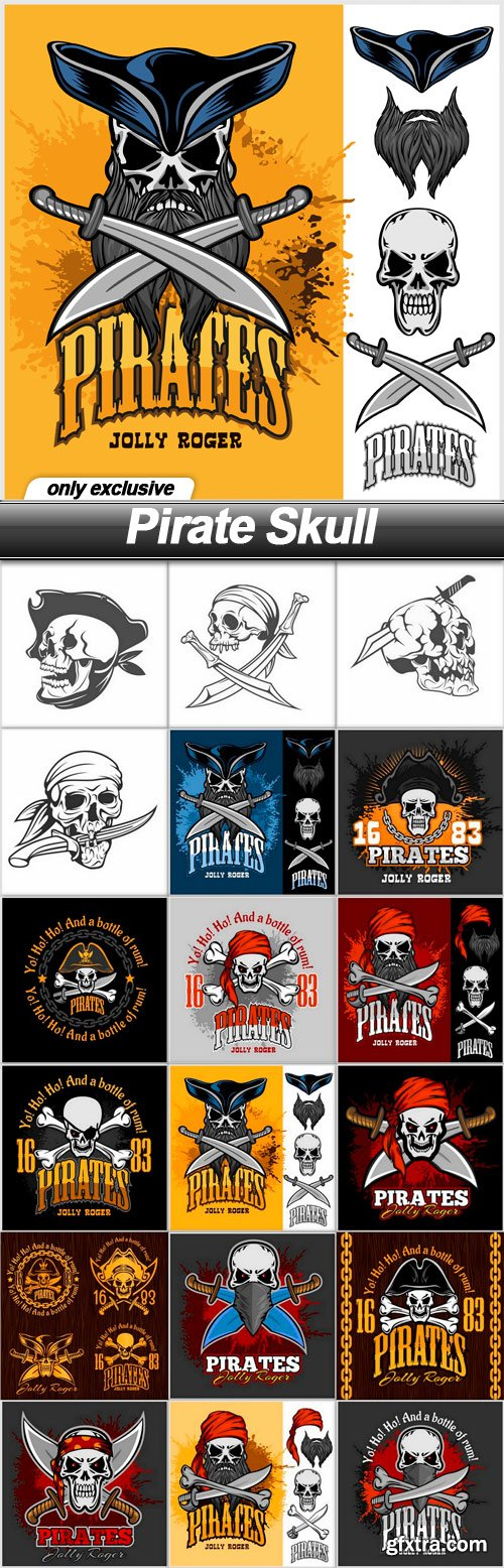 Pirate Skull - 18 EPS