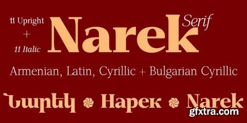 GHEA Narek Serif Font Family