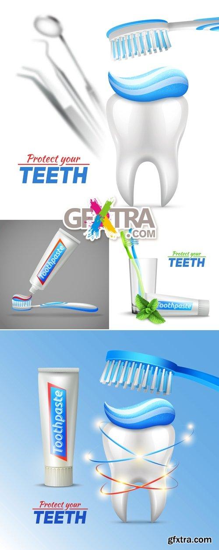 Dental, Stomatology Concept Vector