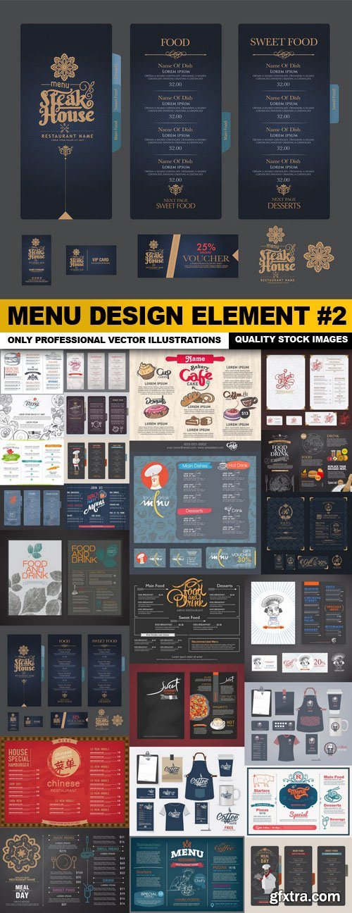 Menu Design Element #2 - 25 Vector