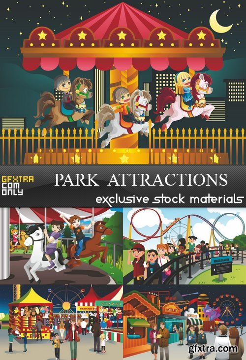 Park  Attractions - 5 EPS