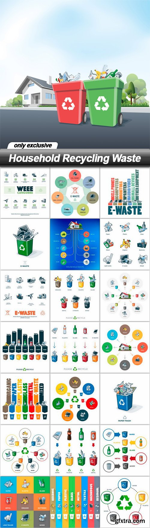 Household Recycling Waste - 22 EPS