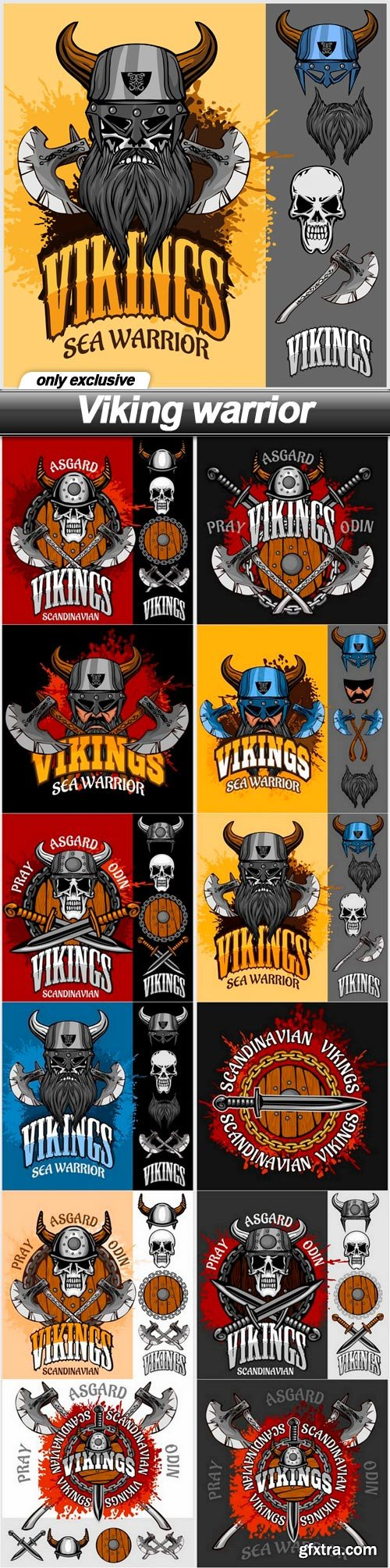 Viking warrior - 12 EPS