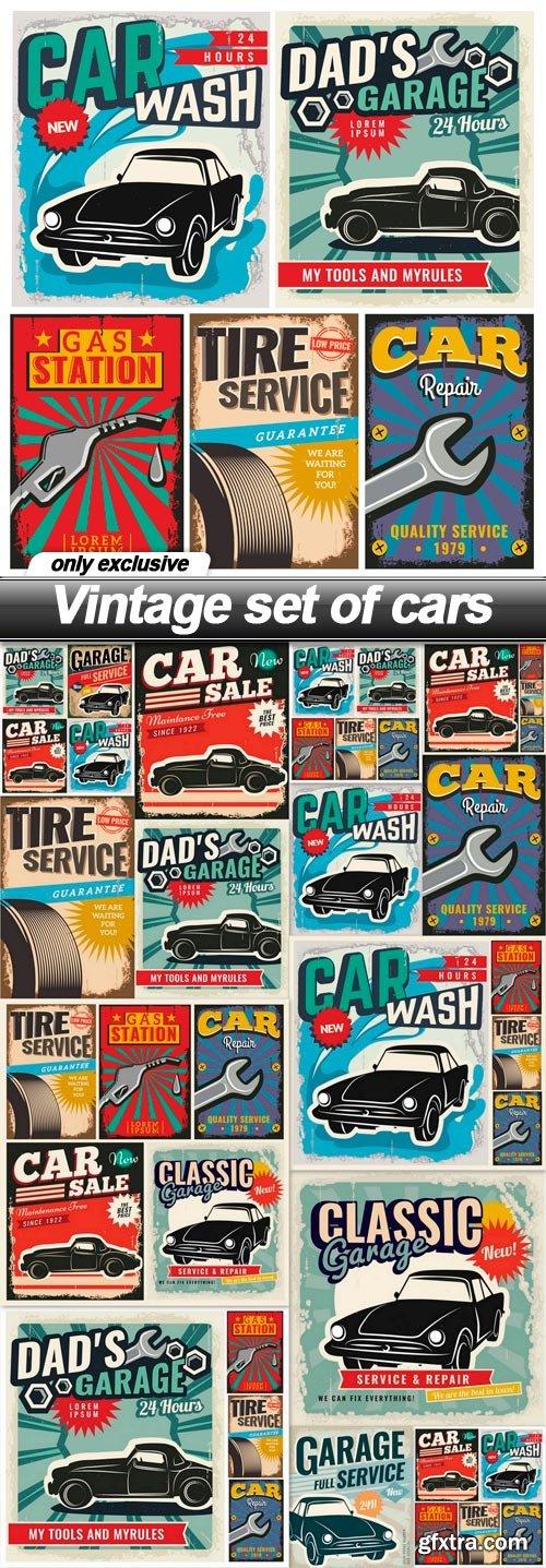 Vintage set of cars - 14 EPS