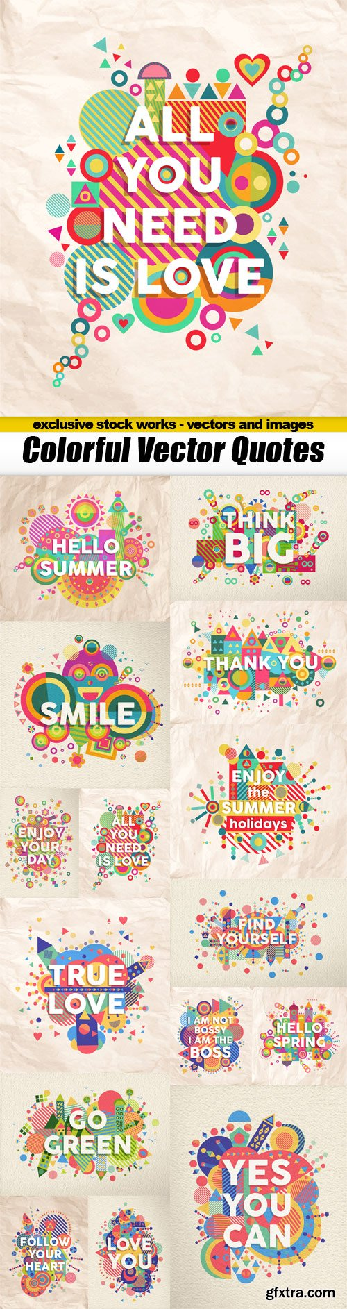 Colorful Vector Quotes - 15x EPS