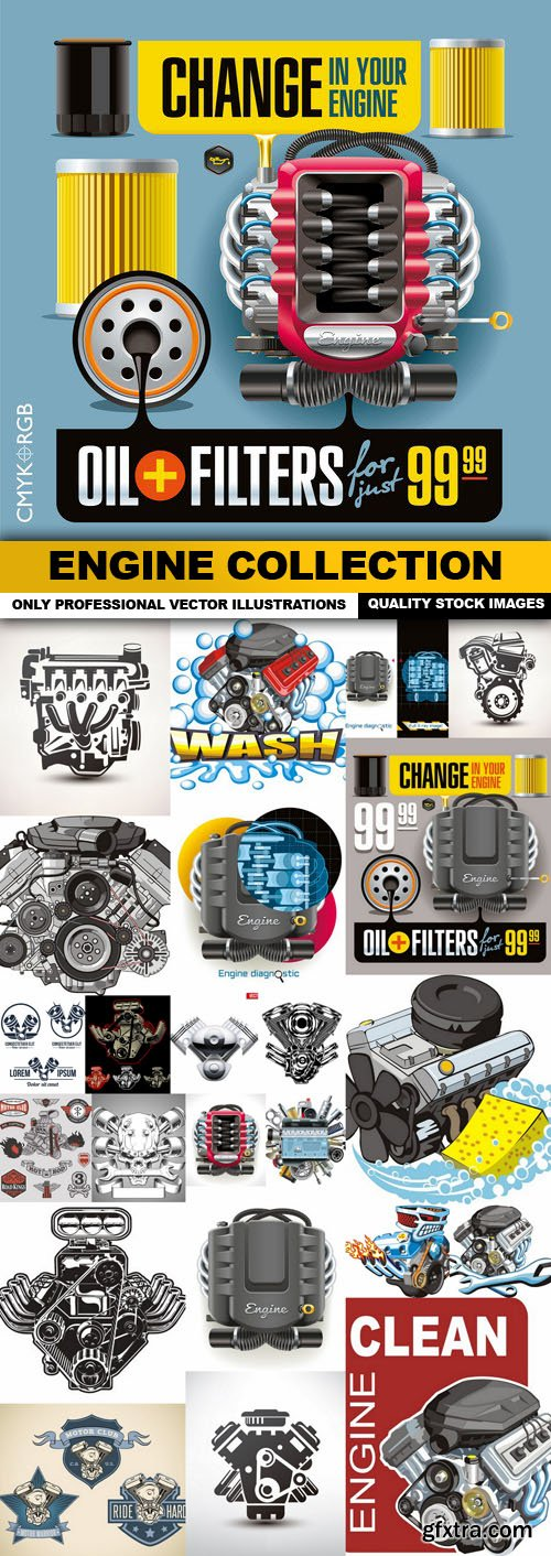 ENGINE Collection - 25 Vector