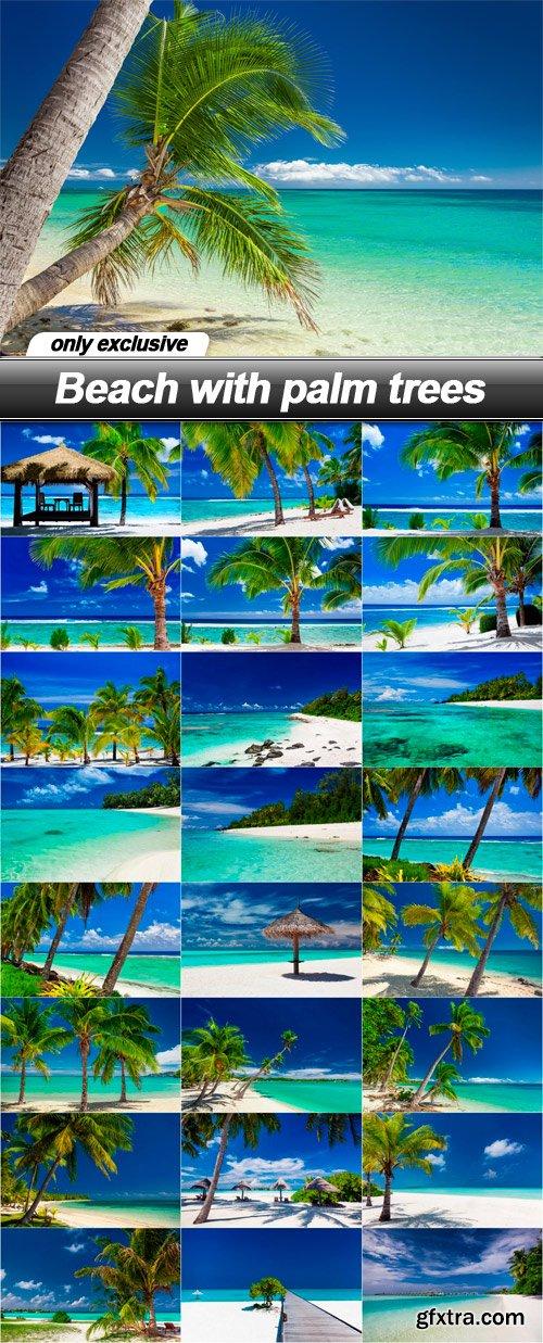 Beach with palm trees - 25 UHQ JPEG