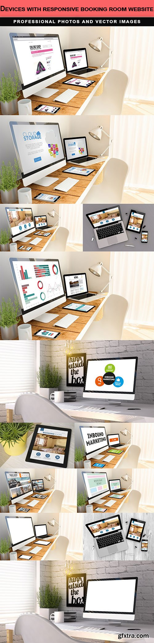 Devices with responsive booking room website