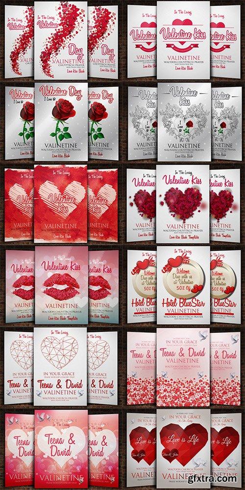 CreativeMarket 12 Valentine Flyers Bundle 510574