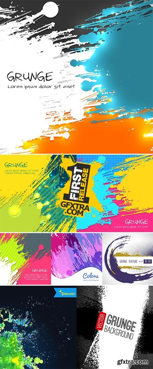 Stock: Abstract Grunge Background, Vector Illustration for Your Design
