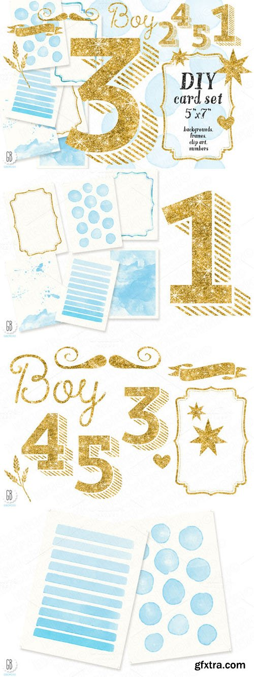 DIY birthday card set, baby boy - CM 126331