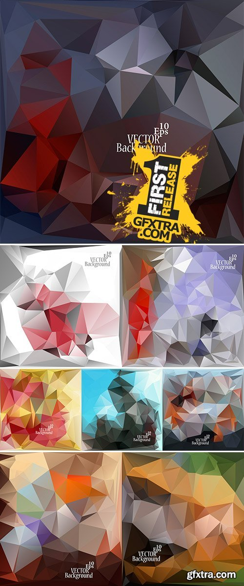 Multicolor Design Templates Stock vector, Geometric Triangular Abstract Modern Vector Background