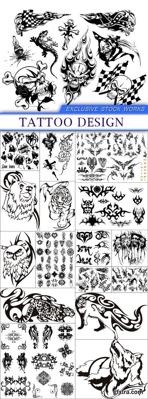 tattoo design 16X EPS