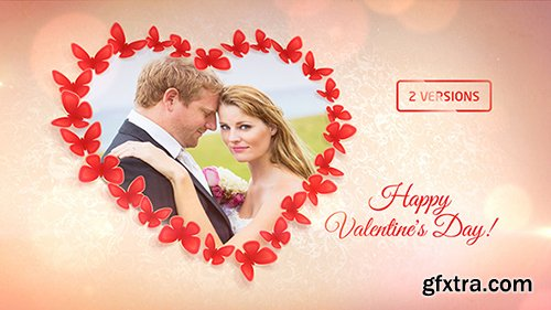 Videohive Sweet Butterflies: Valentine's Day Card 10341841
