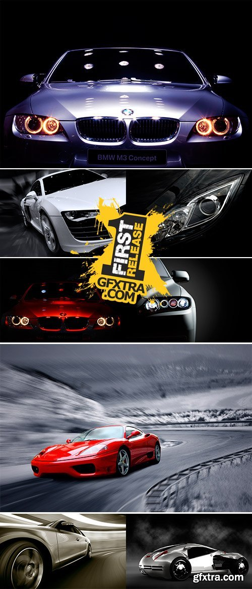 Stock Photo Famous Car on Display with Black Background