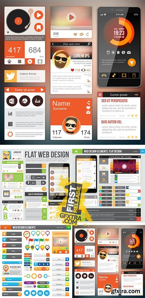 Stock: Web design elements 4