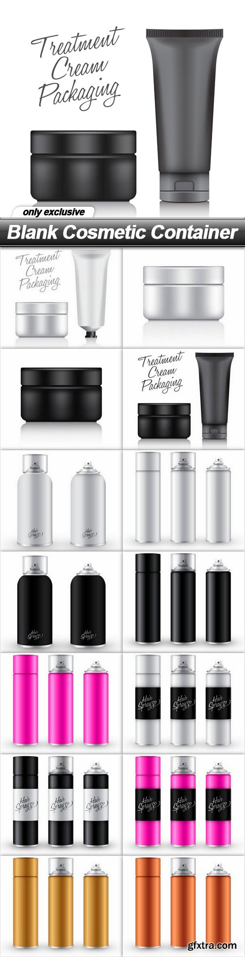 Blank Cosmetic Container - 14 EPS
