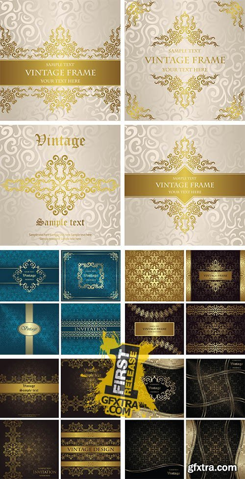 Stock: Vector set of seamless background