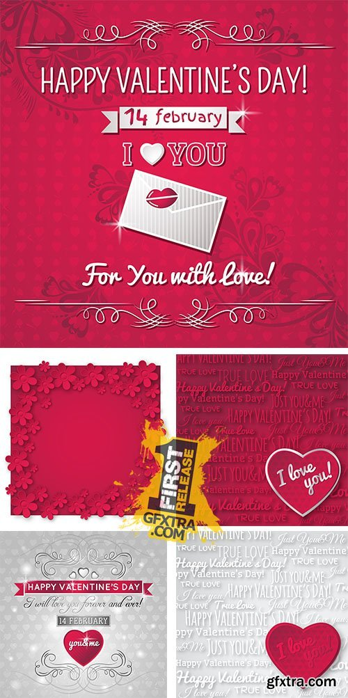 Stock: Red background with valentine