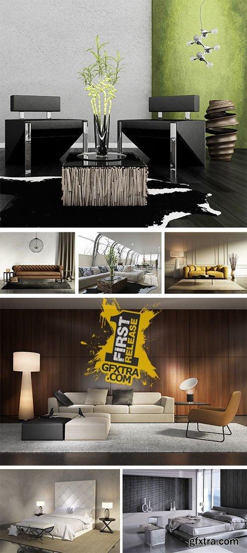 Stock Photo: Modern Apartment Interior 13