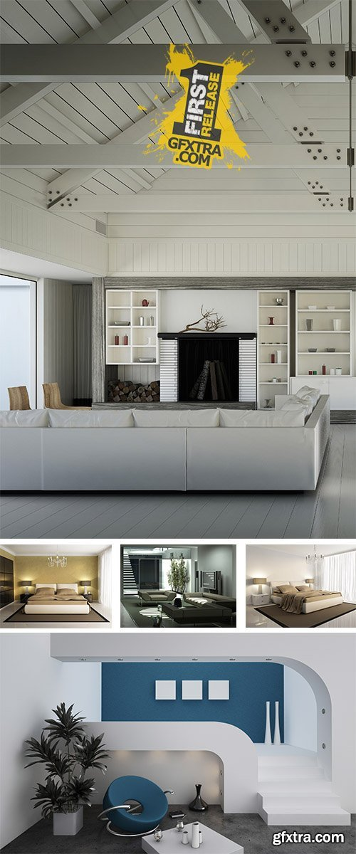 Stock Photo: Modern Apartment, Interior 14