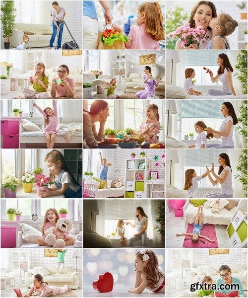 Collection of mother and daughter happy family baby joy 25 HQ Jpeg