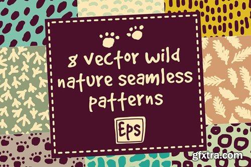 8 vector wild nature patterns set - CM 503875