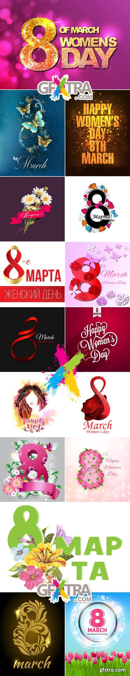 8 March Woman's Day Vector 2