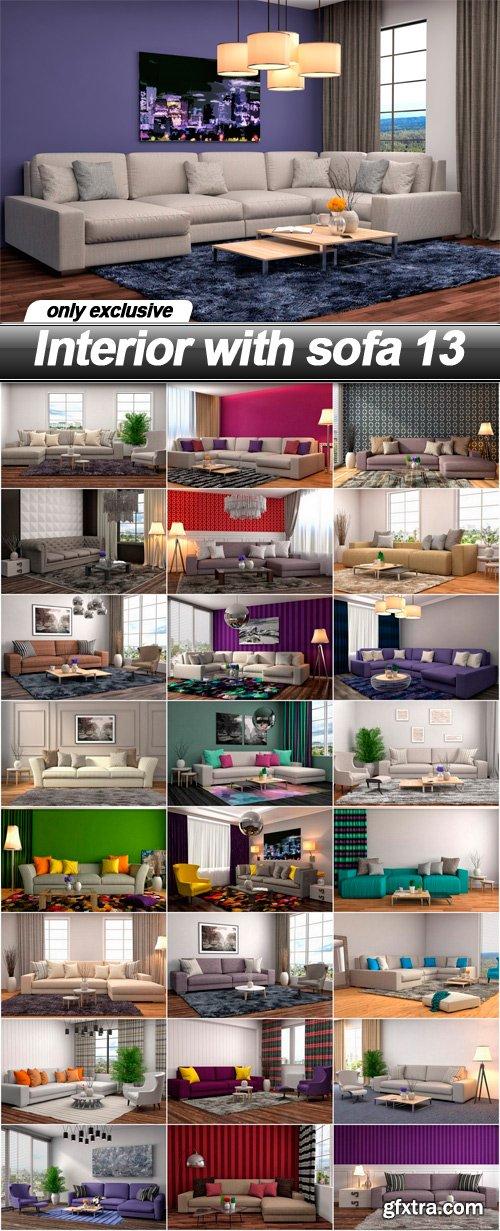 Interior with sofa 13 - 25 UHQ JPEG