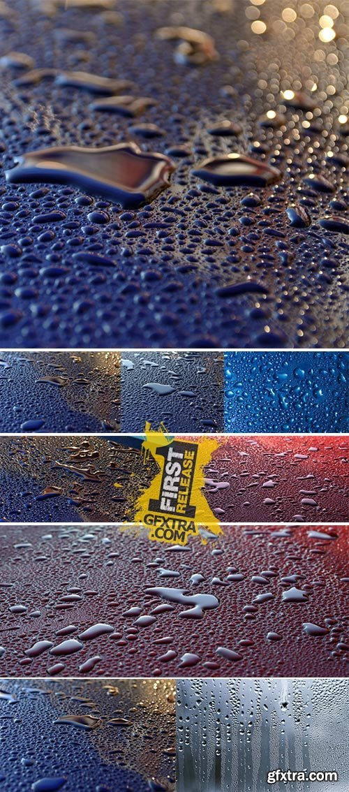 Stock Photo: Water drops after heavy rain