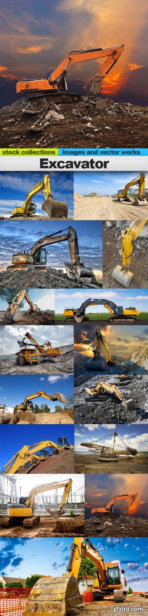 Excavator, 15 x UHQ JPEG