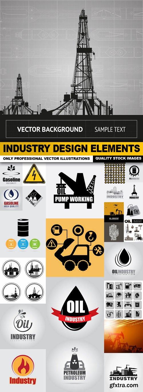 Industry Design Elements - 25 Vector