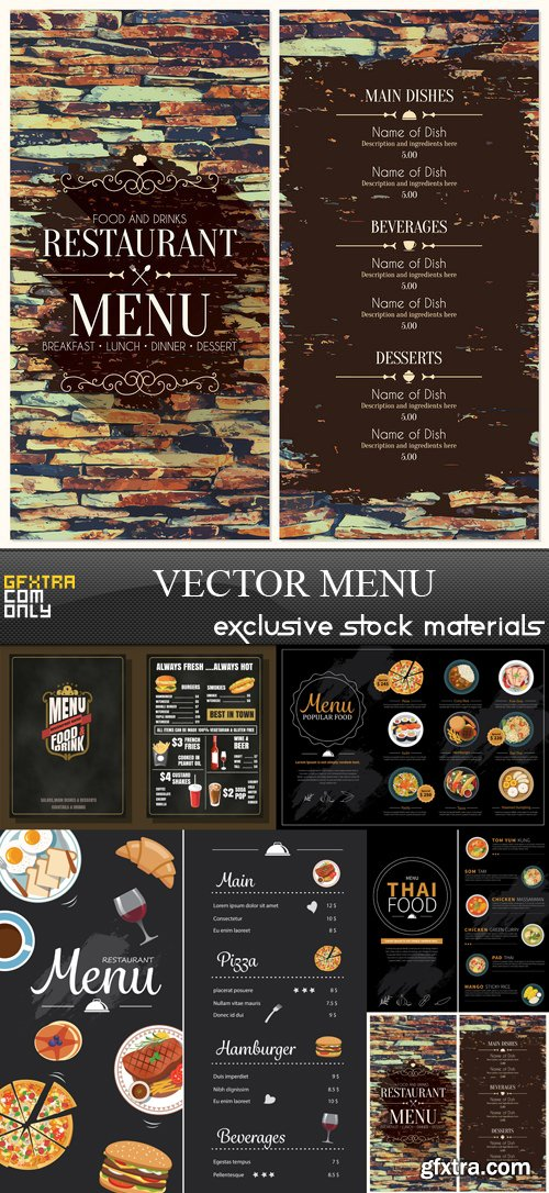 Vector Menu - 5 EPS