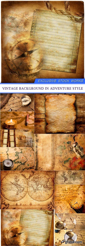 vintage background in adventure style 12X JPEG