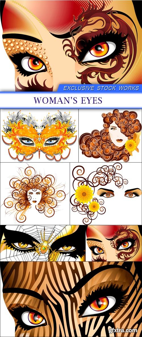 Woman's Eyes 7X EPS