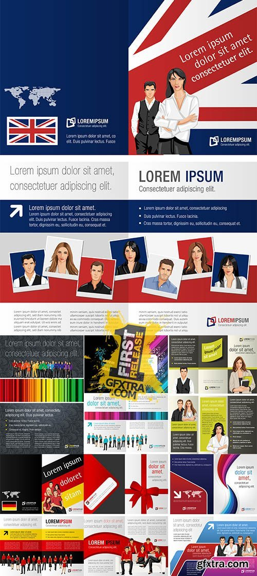 Stock: Olorful template for advertising brochure
