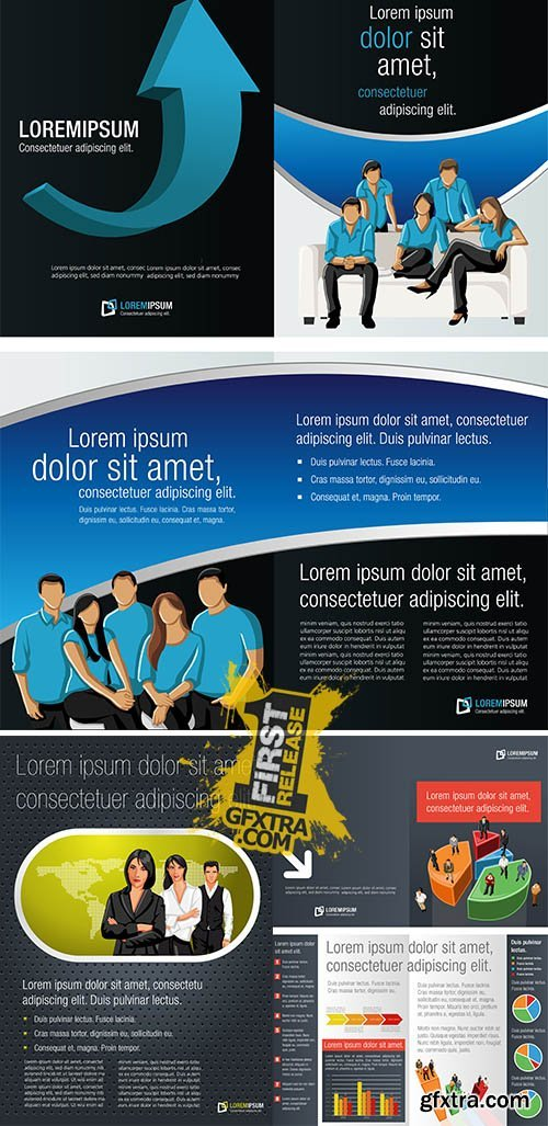 Stock: Template with business brochure
