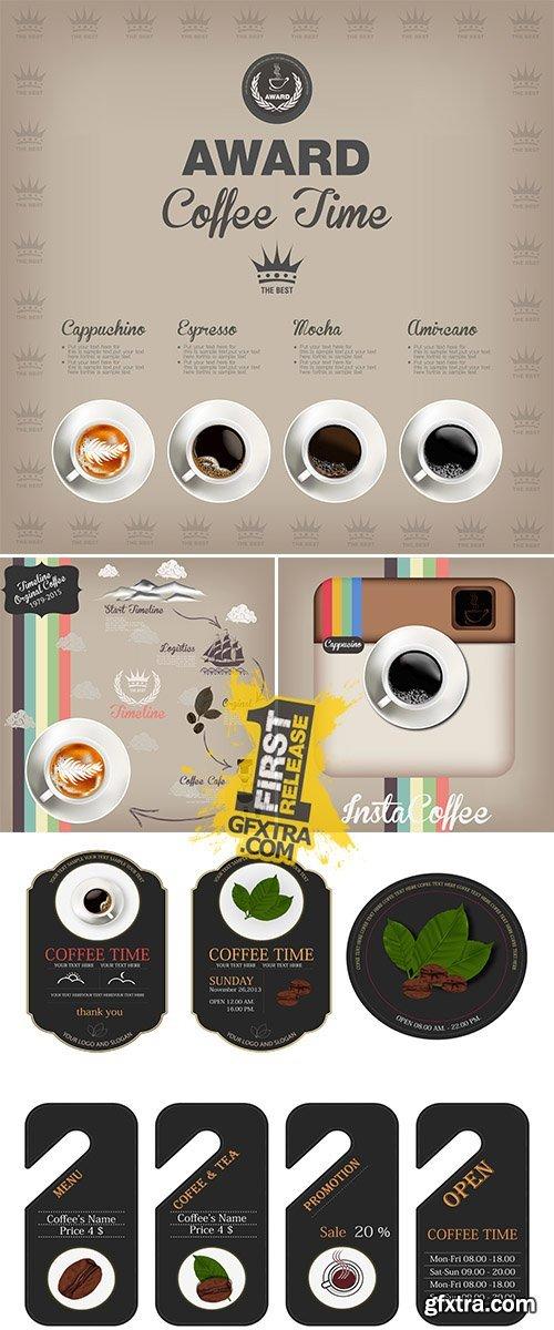 Stock: Coffee design templates