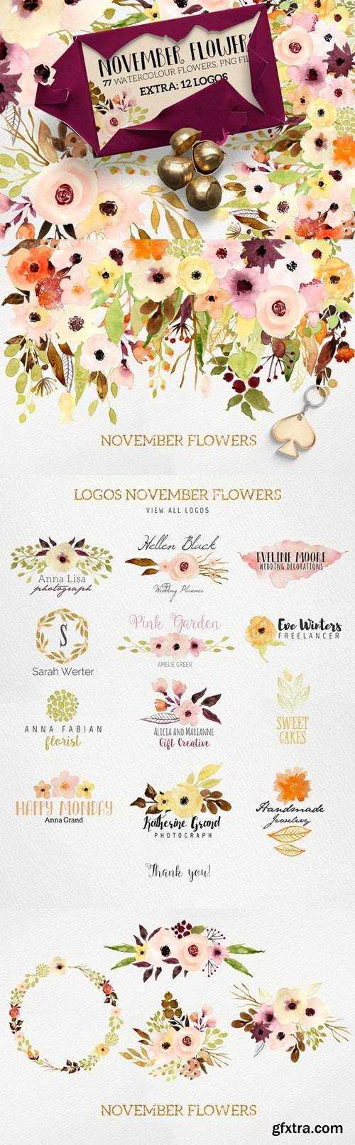 Logos and November Flowers - CM 429313