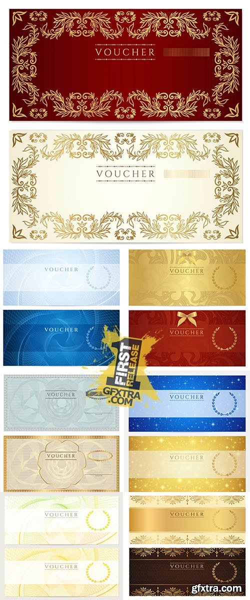 Stock: Gift certificate Voucher Coupon template