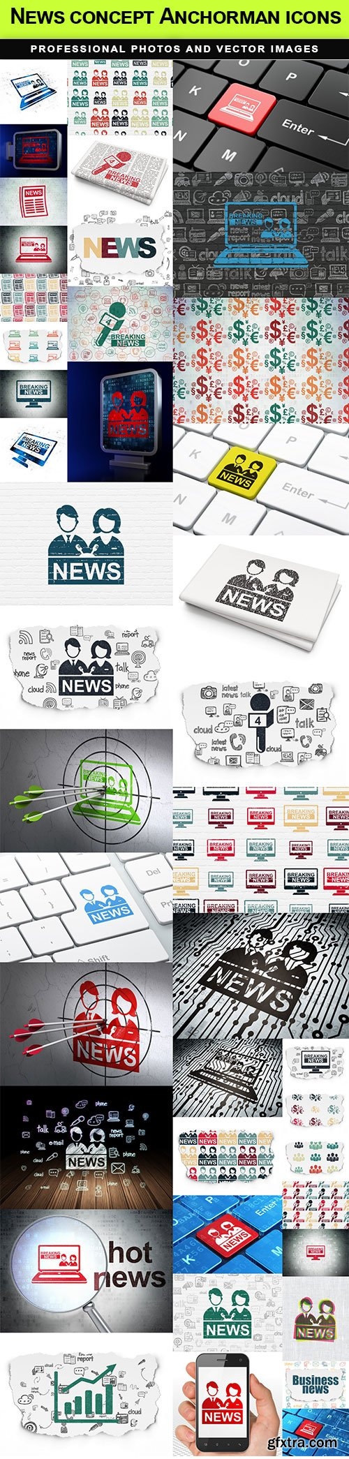 News concept Anchorman icons