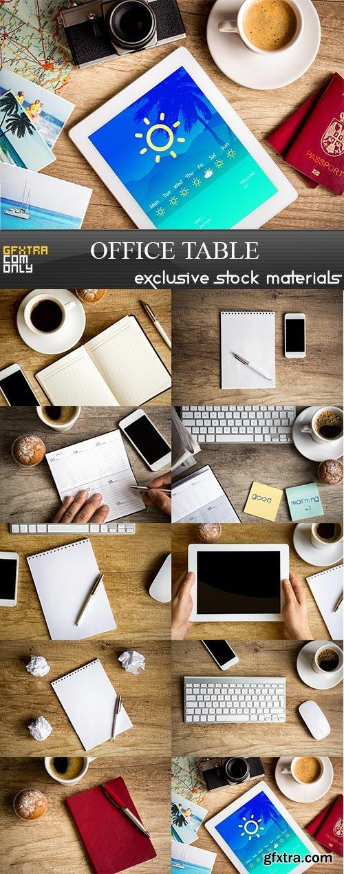 Office table, 10 x UHQ JPEG