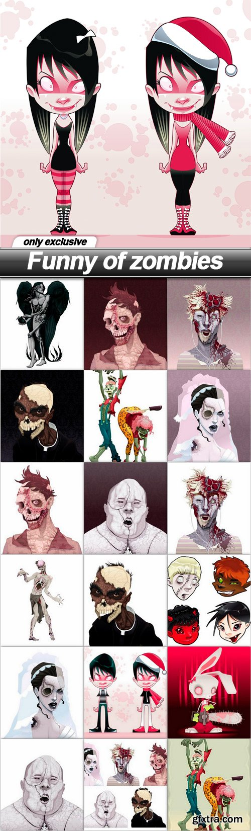 Funny of zombies - 19 EPS