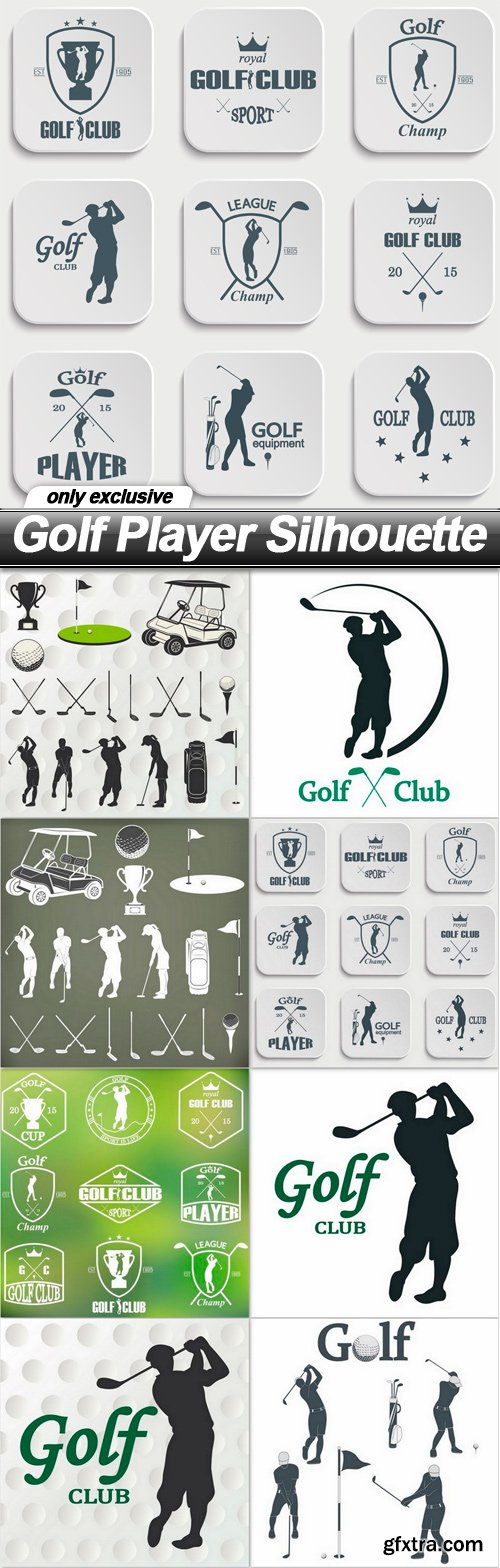 Golf Player Silhouette - 8 EPS
