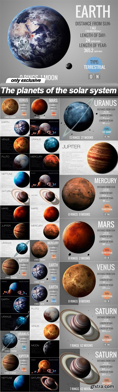 The planets of the solar system - 39 UHQ JPEG