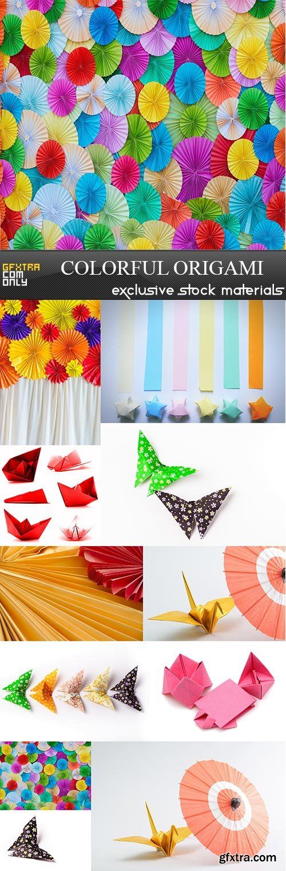Colorful Origami, 11  x  UHQ JPEG