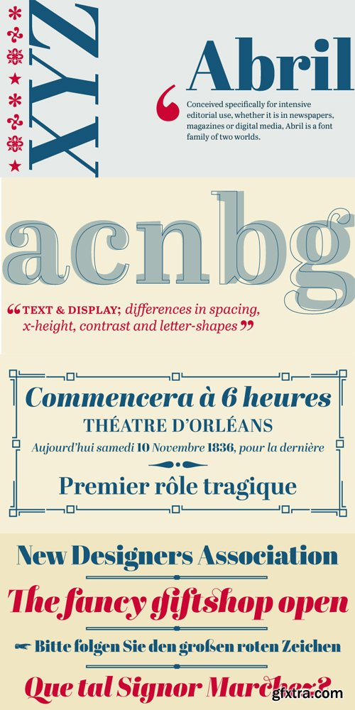 Abril Font Family Complete $745