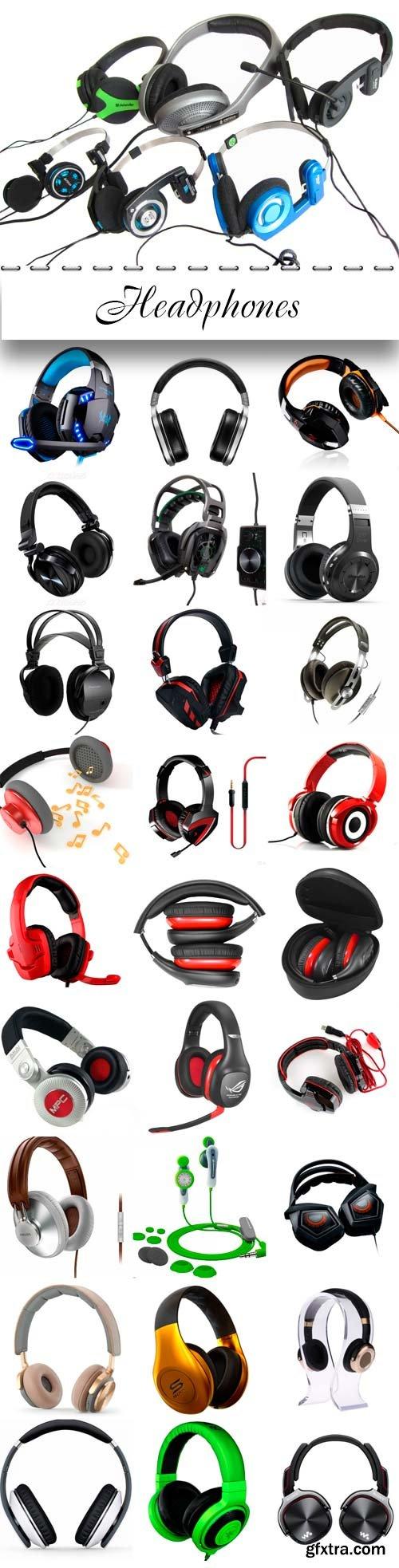 Headphones raster graphics